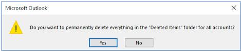 outlook clean up inbox
