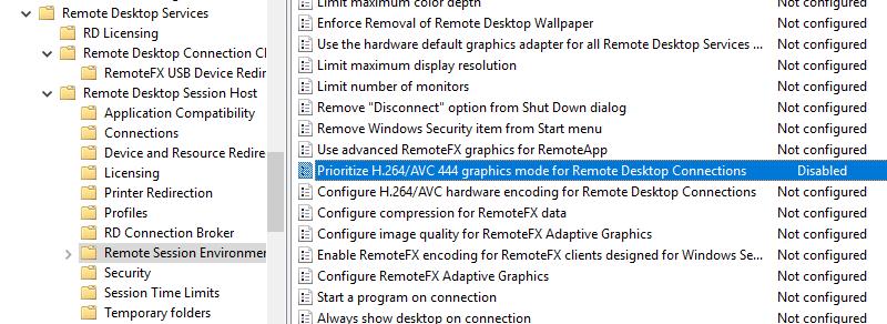 an internal error has occurred remote desktop windows 10