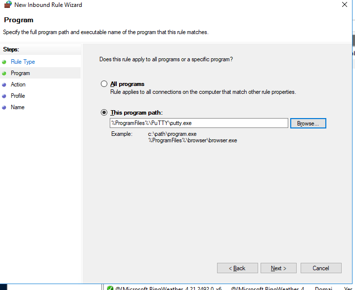 firewall with advanced security on windows 10