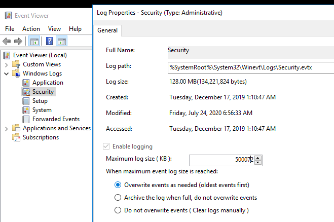 windows 10 audit policy