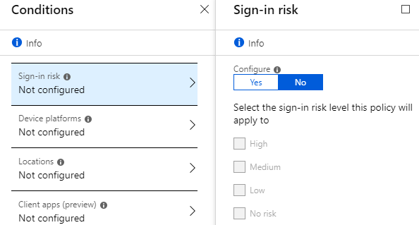 setup conditional access office 365