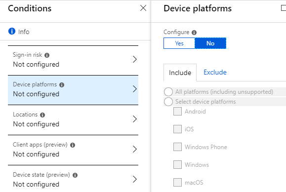 conditional access for office 365