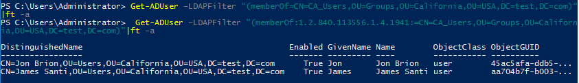 nested groups in active directory
