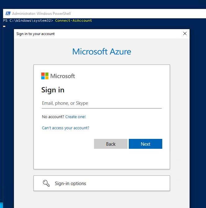 windows azure active directory module for windows powershell