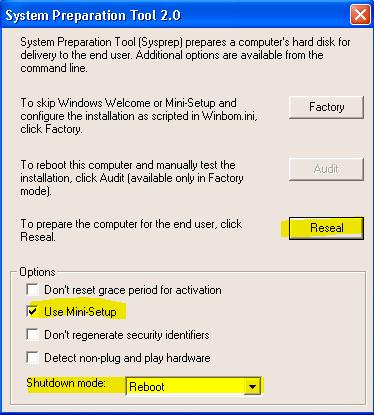 Sysprep - Preparation Tool 2.0