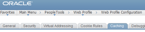 PeopleSoft Web Profile Configuration