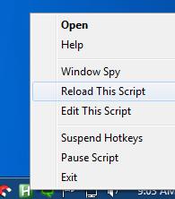 autohotkey - reload script