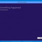 something happened windows 10 error