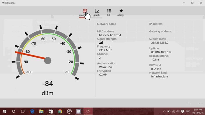 wifi monitor app dashboard