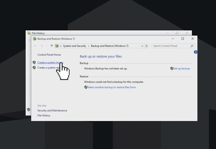 windows 10 backup & restore