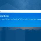 critical error start menu windows