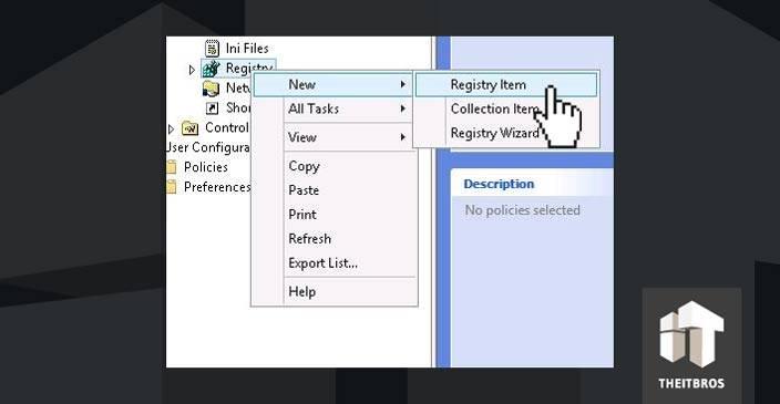 registry item