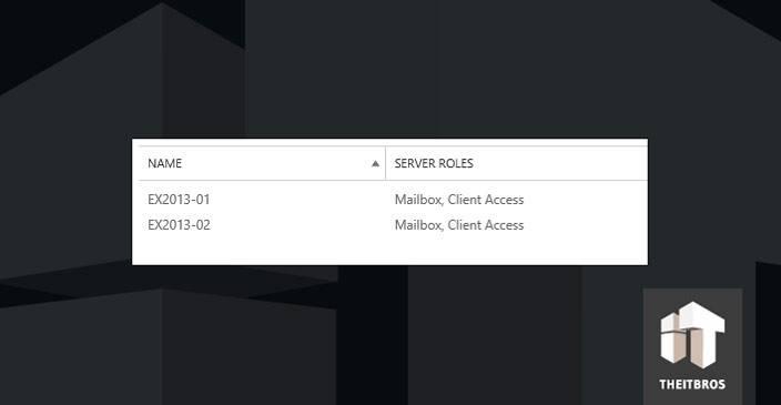 server roles exchange