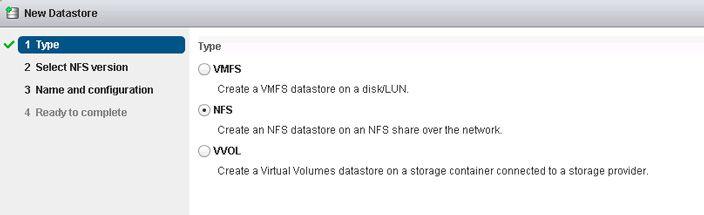 datastore type nfs