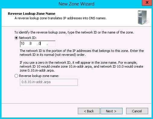 reverse zone id