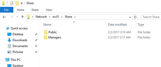 network share folder