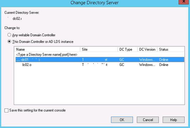 change directory server