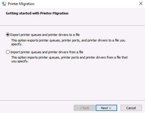 managing print service migration